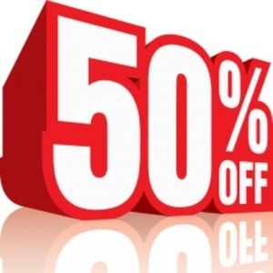 Accessories - Items are 50%off. Extra 10%off End of the Week